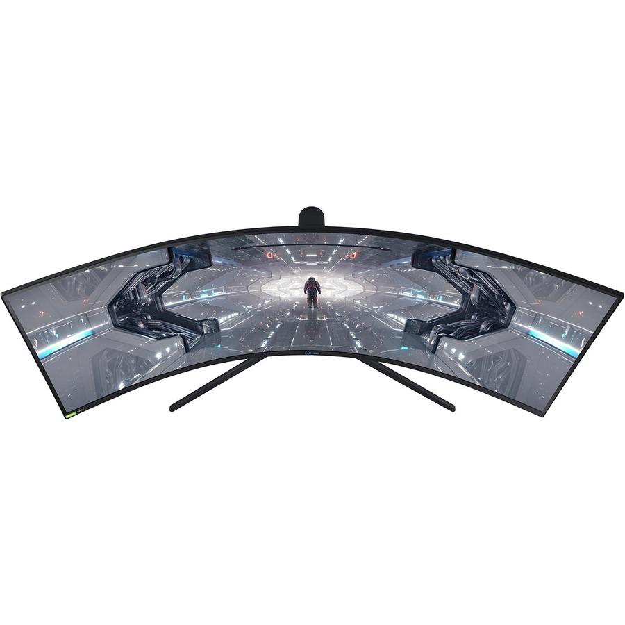 "Samsung Odyssey G9 C49G95TSSN 48.7"" UW-QHD Curved Screen Quantum Dot LED Gaming LCD Monitor - 32:9 - Black, White, Matte Black"