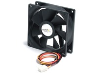 StarTech.com 80x25mm Ball Bearing Quiet Computer Case Fan w/ TX3 Connector - Fan Kit