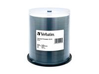 Verbatim CD-R 700MB 52X White Thermal Printable - 100pk Spindle