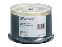 CD-R 700MB 52X UltraLife Gold Archival Grade with Branded Surface and Hard Coat - 50pk Spindle