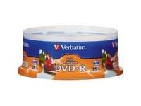 DVD-R 4.7GB 16X White Inkjet Printable, Hub Printable - 25pk Spindle