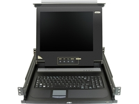 "Aten 17"" Single-Rail LCD Integrated Console-TAA Compliant"