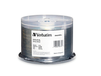 Verbatim DVD+R DL 8.5GB 8X DataLifePlus Shiny Silver Silk Screen Printable - 50pk Spindle