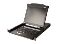 """Aten Slideaway CL5708 17"""" LCD Console 8-Port Combo KVM with Peripheral Sharing Technology-TAA Compliant"""