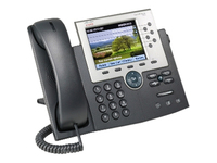 Cisco 7965G IP Phone - Refurbished - Desktop, Wall Mountable - Dark Gray, Silver