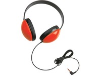 Califone Childrens Stereo Headphone Lightweight RED