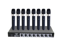 Pyle 8 Mic Professional Handheld VHF Wireless Microphone System