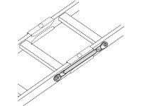 Black Box Ladder Rack Grounding Kit - 8' Braided Copper Strap