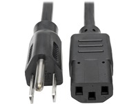 Tripp Lite 3ft Computer Power Cord Cable 5-15P to C13 10A 18AWG 3'