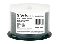 BD-R 25GB 16X DataLifePlus White Thermal Printable, Hub Printable - 50pk Spindle