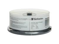 Verbatim BD-R DL 50GB 6X DataLifePlus White Thermal Printable, Hub Printable - 25pk Spindle