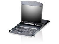 ATEN KL1508AM 8-Port Cat 5 High-Density Dual Rail LCD KVM Switch - TAA Compliant