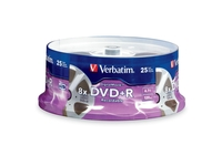 Verbatim DVD+R 4.7GB 8X with DigitalMovie Surface - 25pk Spindle