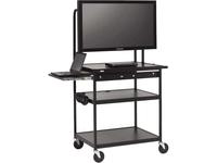 Bretford Basics FP42MUL-P5BK Flat Panel Cart