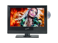"Supersonic SC-1312 13.3"" TV/DVD Combo - HDTV - 16:9 - 1366 x 768 - 720p"