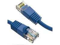 Axiom 1FT CAT6 550mhz Patch Cable Molded Boot (Blue)