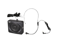 PylePro 50 Watts Portable, USB Waist-Band Portable Pa System With A Headset Microphone with Built In Rechargeable Batteries (Color Black)