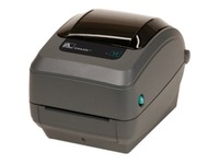 Zebra GX430t Desktop Thermal Transfer Printer - Monochrome - Label Print - Ethernet - USB - Serial - With Cutter