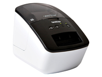 Brother PocketJet QL-700 Desktop Direct Thermal Printer - Monochrome - Label Print - USB - With Cutter - White, Black