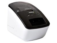 Brother PocketJet QL-700 Desktop Direct Thermal Printer - Monochrome - Label Print - USB - With Cutter - White, Black