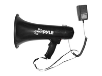 PylePro 40 Watts Professional Megaphone / Bullhorn w/Siren and 3.5mm Aux-In For Digital Music/iPod