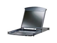 ATEN 8-Port 19in. Dual Rail CAT5 LCD KVM Over the Net-TAA Compliant