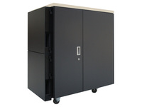 APC by Schneider Electric NetShelter CX 24U Secure Soundproof Server Room in a Box Enclosure International