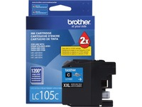 Brother Genuine Innobella LC105C Super High Yield Cyan Ink Cartridge.