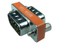 140-448-R MINI DB9M-M GENDER  CHANGER ROHS NULL MODEM WITH PIN9
