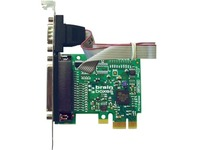 Brainboxes 1 Port RS232 PCI Express Serial Card with LPT Parallel Printer Port