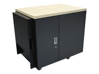 APC by Schneider Electric NetShelter CX 18U Secure Soundproof Server Room in a Box Enclosure International