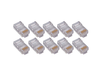 4XEM 50 Pack Cat5E RJ45 Modular Ethernet Plugs for Stranded or Solid CAT5E Cable