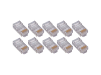 4XEM 50 Pack Cat6 RJ45 Modular Ethernet Plugs for Stranded or Solid CAT6 Cable