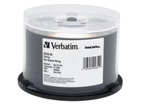 Verbatim DVD-R 4.7GB 8X DataLifePlus Shiny Silver Silk Screen Printable - 50pk Spindle