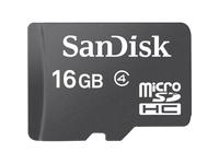 SanDisk 16 GB Class 4 microSDHC