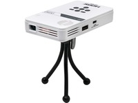 AAXA LED Pico Projector with 80 Minute Battery Life, mini-HDMI, 15,000 hour LED Life, and Media Player