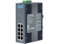 Advantech 8-port Industrial PoE Switch with 24/48 VDC Power Input and Wide Temperature