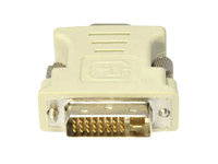 5PK DVI-I (29 pin) Male to VGA Female White Adapters For Resolution Up to 1920x1200 (WUXGA)