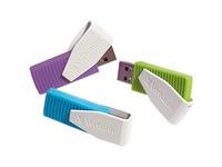 Verbatim 8GB Swivel USB Flash Drive - 3pk - Blue, Green, Violet