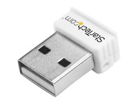 StarTech.com USB 150Mbps Mini Wireless N Network Adapter - 802.11n/g 1T1R USB WiFi Adapter - White