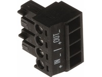 AXIS Connector A 4-pin 3.81 Straight IN/OUT, 10 pcs