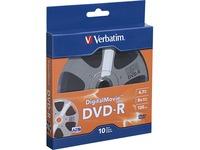 Verbatim DVD-R 4.7GB 8X with DigitalMovie Surface - 10pk Bulk Box