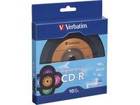 Verbatim CD-R 80min 52X with Digital Vinyl Surface - 10pk Bulk Box
