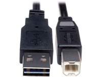 Tripp Lite 1ft USB 2.0 High Speed Cable Reverisble A to B M/M