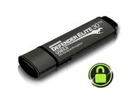 Kanguru Defender Elite30, Hardware Encrypted, Secure, SuperSpeed USB 3.0 Flash Drive, 128G