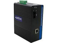 AddOn 1 10/100/1000Base-TX(RJ-45) to 1 1000Base-SX(SC) MMF 850nm 550m Industrial Media Converter