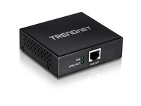TRENDnet Gigabit PoE+ Repeater/Amplifier; TPE-E100; 1 x Gigabit PoE+ In Port; 1 x Gigabit PoE Out Port; Extends 100m for Total Distance Up to 200m (656 ft.); Supports PoE (15.4W) & PoE+ (30W)
