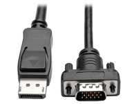 Tripp Lite 10ft DisplayPort to VGA Cable / DP to VGA Adpater Latches to HD15 M/M