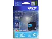 Brother Genuine LC10EC INKvestment Super High Yield Cyan Ink Cartridge