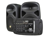 Monoprice 130-Watt 8-channel PA System with Two 10-inch Speakers
